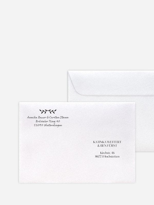 Briefumschlag Bedruckt Verträumt