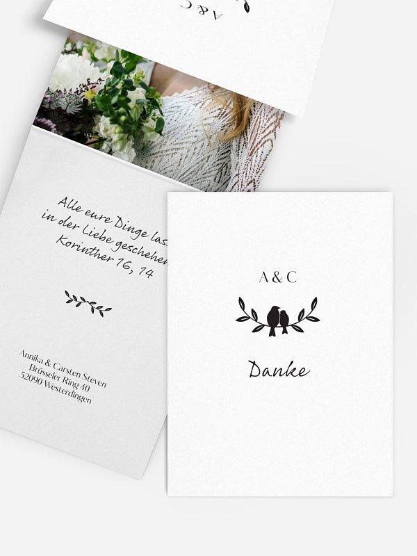 Dankeskarte Hochzeit Verträumt