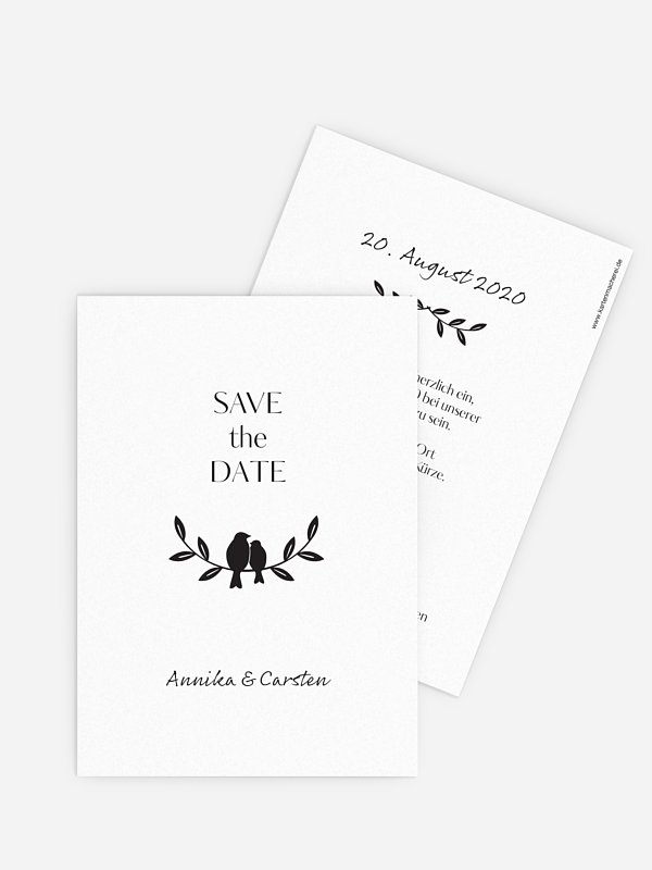 Save-the-Date Karte Verträumt