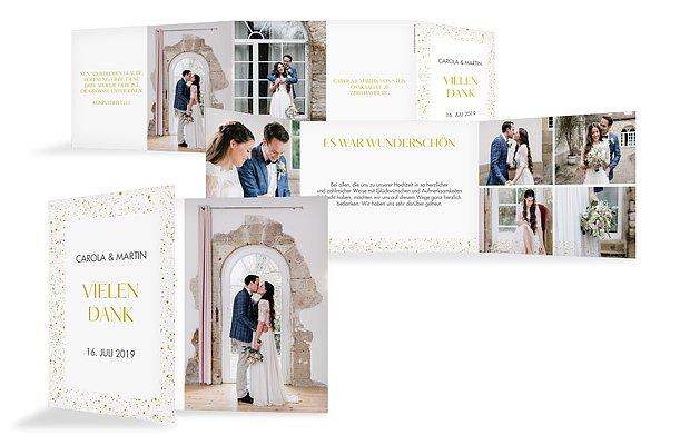 Dankeskarte Hochzeit Sparkling Frame