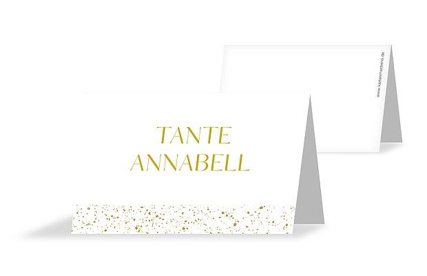Tischkarte Hochzeit Sparkling Frame