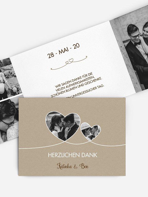 Dankeskarte Hochzeit Liebesbande