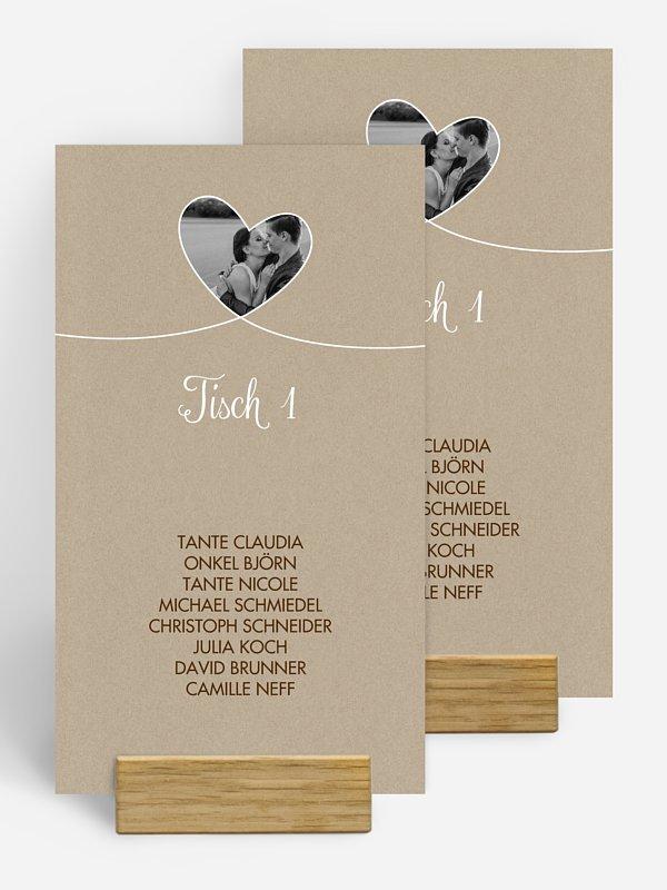 Gruppentischkarte Liebesbande