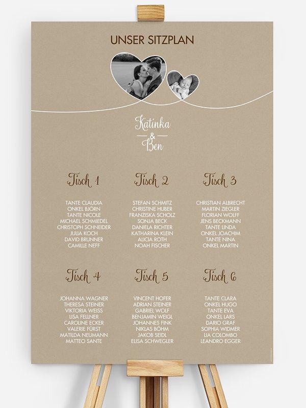 Sitzplan Plakat Liebesbande
