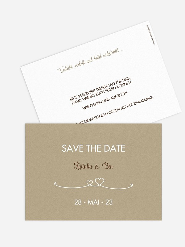 Save-the-Date Karte Liebesbande