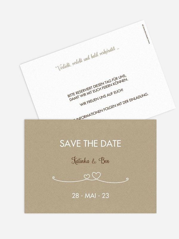 Save-the-Date Karte Liebesbande