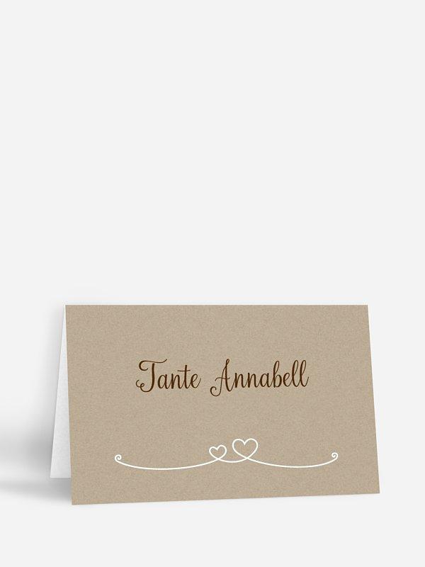Tischkarte Hochzeit Liebesbande