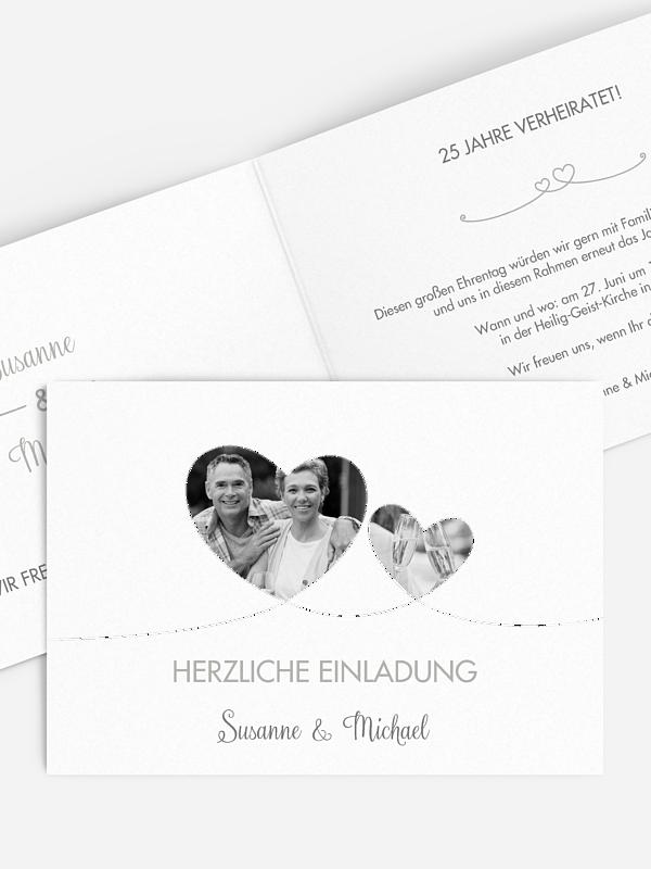 Einladung zur Silberhochzeit Liebesbande