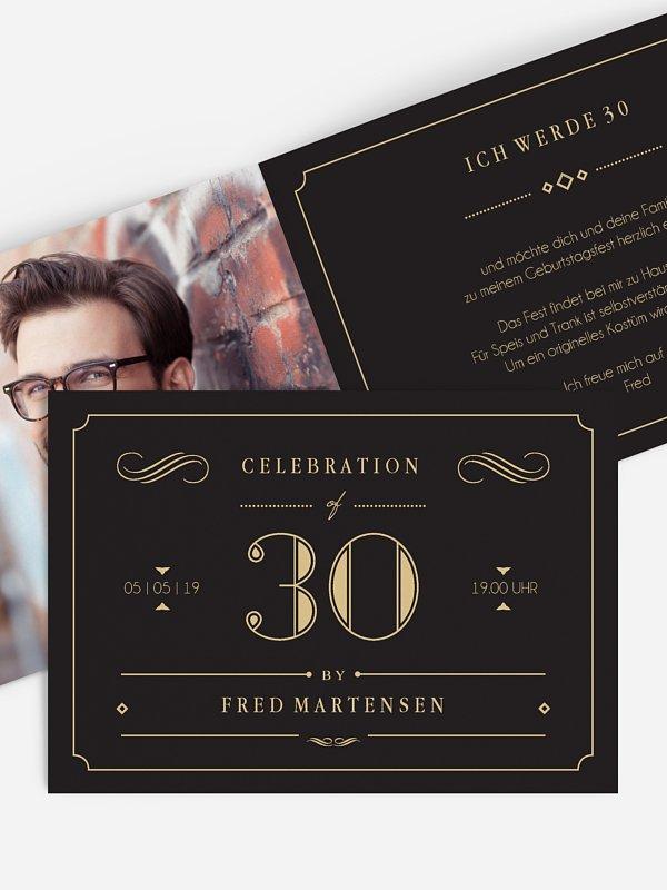 Einladung 30. Geburtstag Gatsby