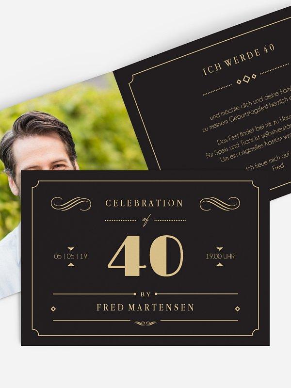 Einladung 40. Geburtstag Gatsby