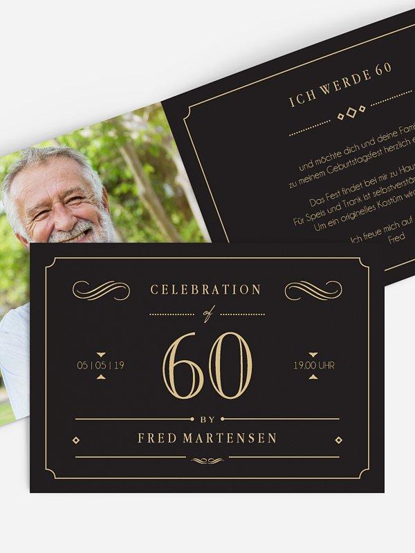 Einladung 60. Geburtstag Gatsby