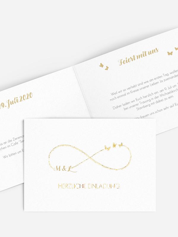 Einladung zur Goldenen Hochzeit Endless Love