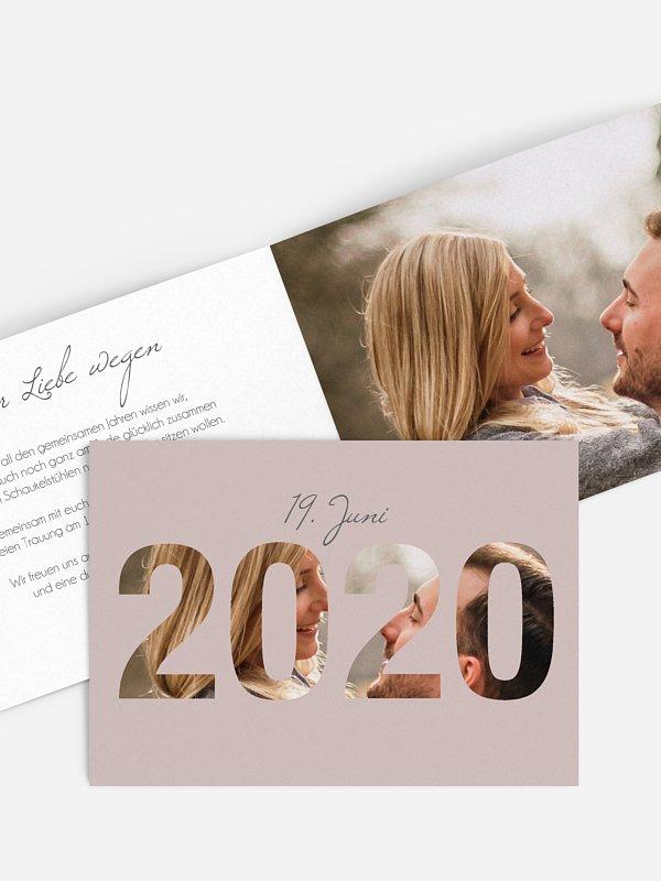Hochzeitseinladung Durchblick 2020