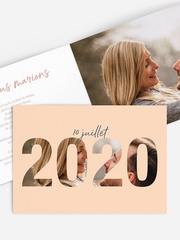 Faire-part de mariage 2020