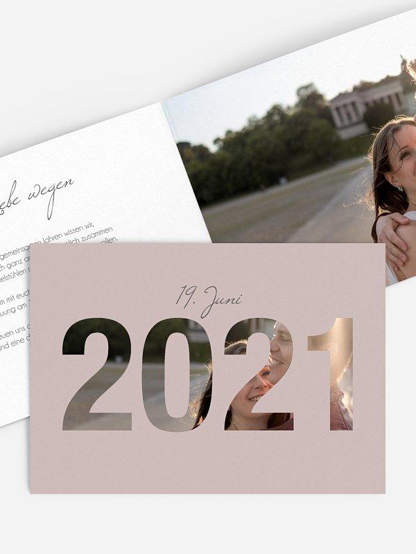 Hochzeitseinladung Durchblick 2021