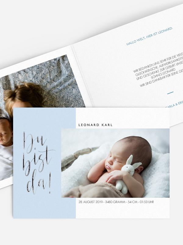 Geburtskarte Glückseligkeit Premium