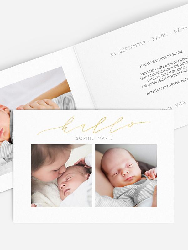 Geburtskarte Kleines Weltwunder Premium