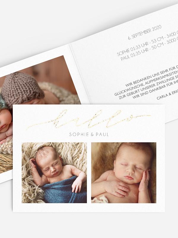 Zwillingskarte Kleines Weltwunder Premium