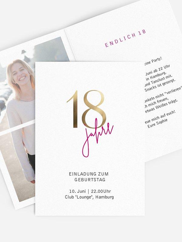 Einladung 18. Geburtstag Prachtvolle Jahre
