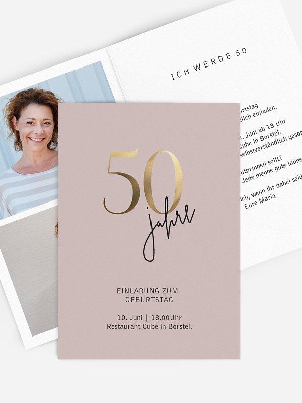 Einladung 50. Geburtstag Prachtvolle Jahre