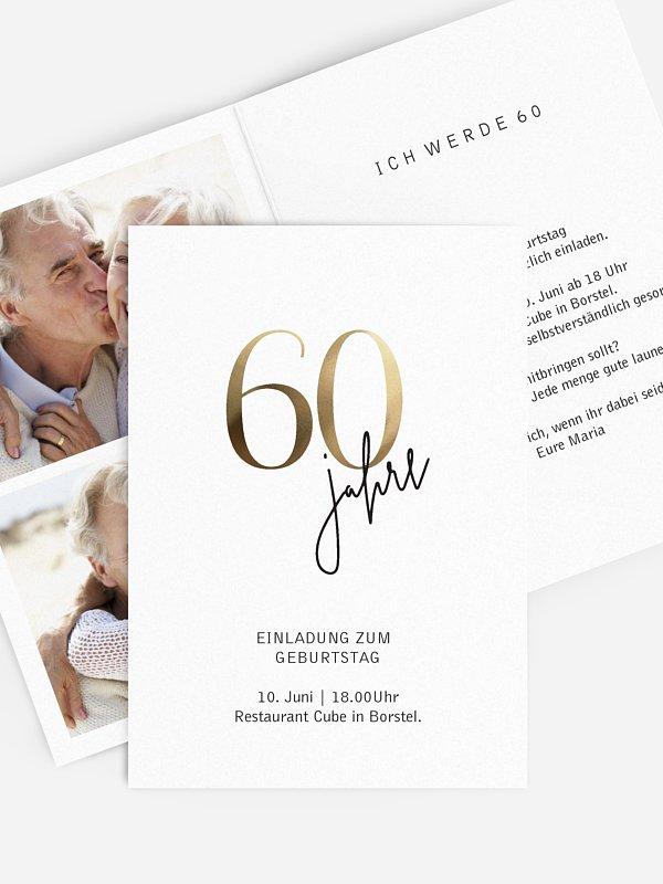 Einladung 60. Geburtstag Prachtvolle Jahre