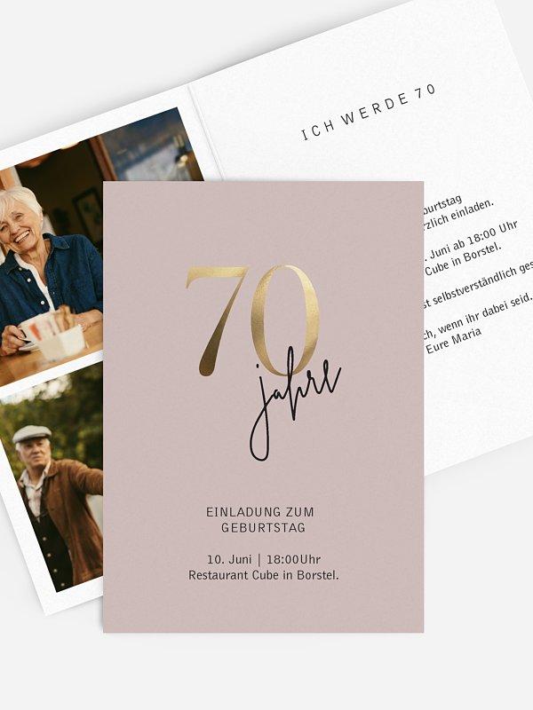 Einladung 70. Geburtstag Prachtvolle Jahre