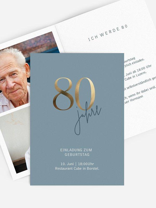 Einladung 80. Geburtstag Prachtvolle Jahre