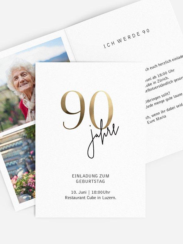 Einladung 90. Geburtstag Prachtvolle Jahre
