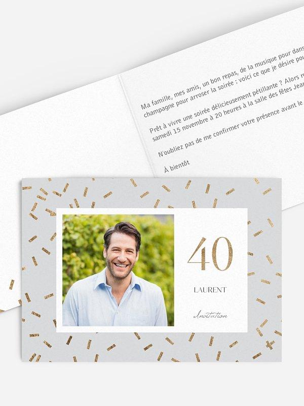 invitation anniversaire 40 Jour de fête