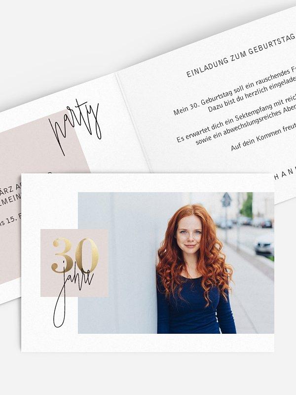 Einladung 30. Geburtstag Glänzende Jahre