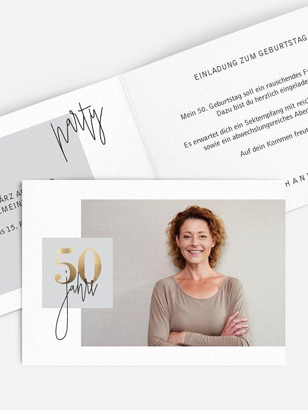 Einladung 50. Geburtstag Glänzende Jahre