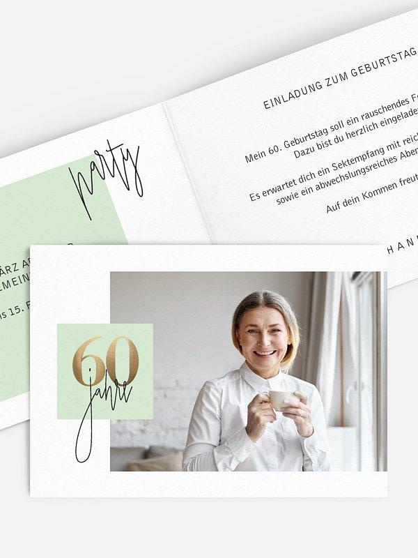 Einladung 60. Geburtstag Glänzende Jahre