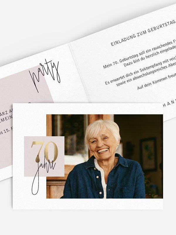 Einladung 70. Geburtstag Glänzende Jahre