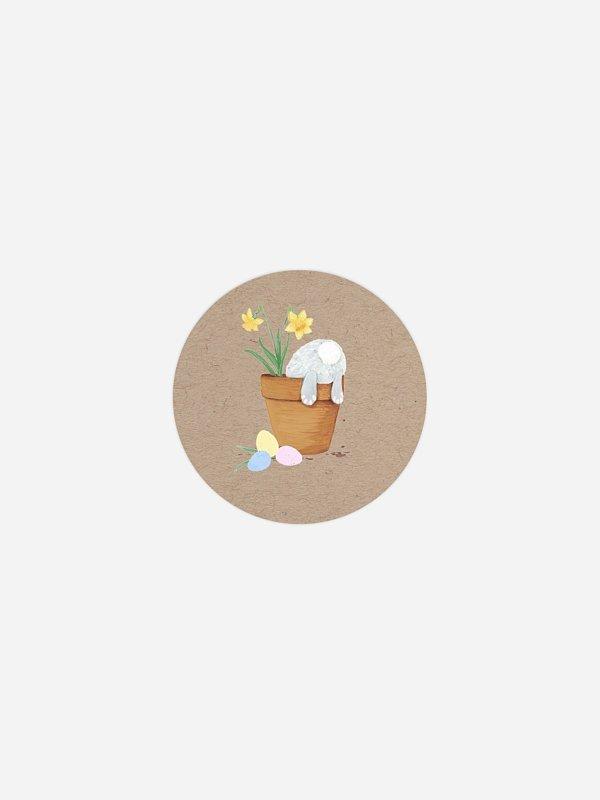 Aufkleber Ostern Eiersuche
