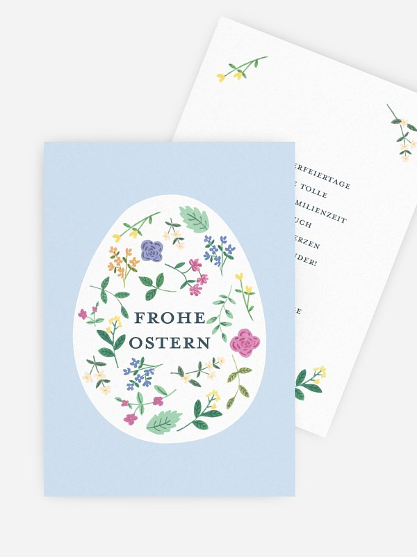 Osterkarte Frühlingszeit
