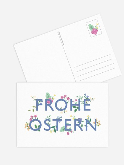 "Osterkarte ""Frohe Ostern"""