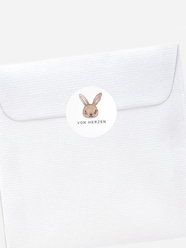 Aufkleber Geburt Bunny