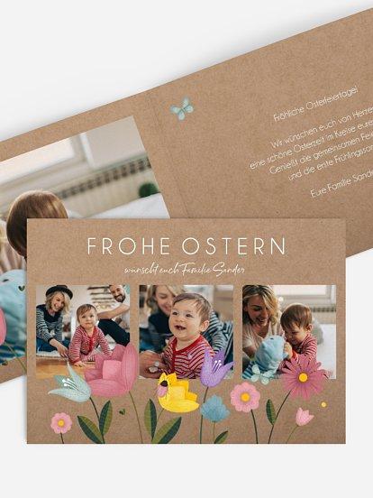 """Osterkarte """"Wildblumen"""""""
