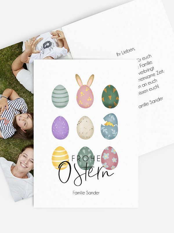 Osterkarte Eierparty