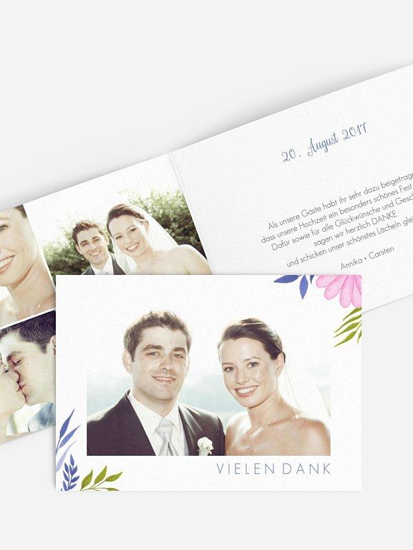 Dankeskarte Hochzeit Field Of Flowers