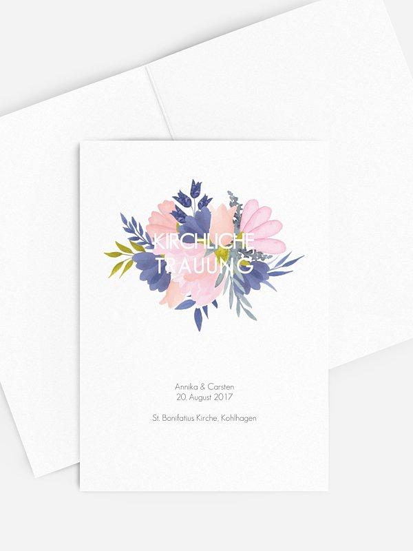 Kirchenheft Hochzeit Field Of Flowers
