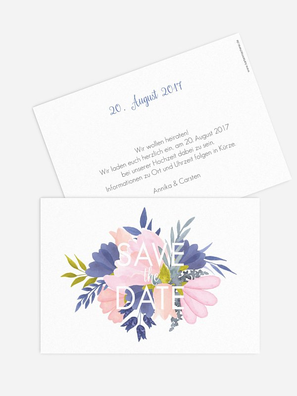Save-the-Date Karte Field Of Flowers