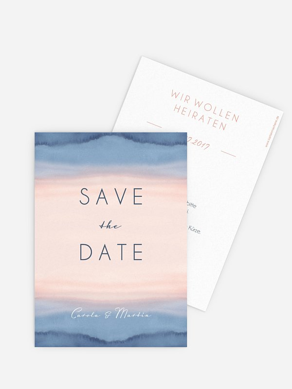 Save-the-Date Karte Misty Landscape