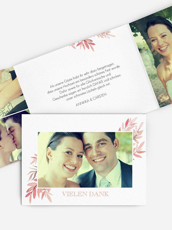 Dankeskarte Hochzeit Seasonal Leaves