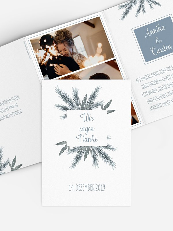 Dankeskarte Hochzeit Painted Pine
