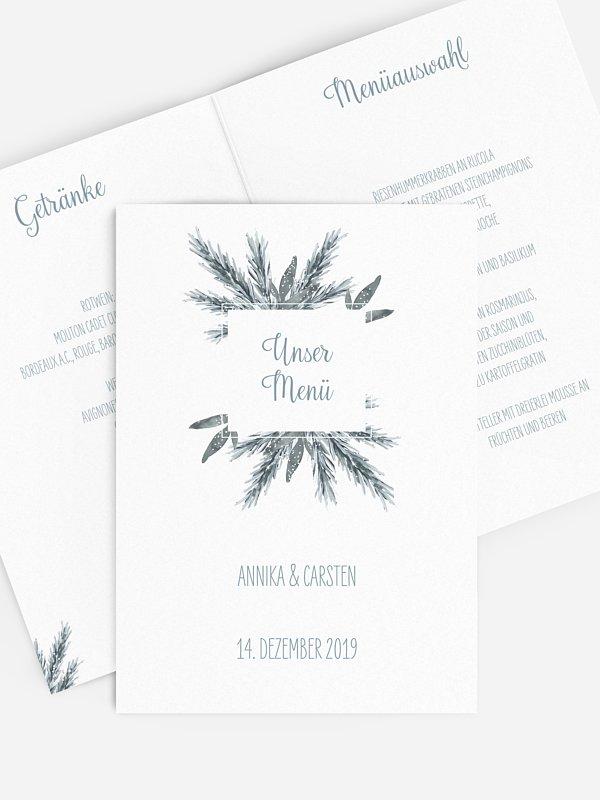 Menükarte Hochzeit Painted Pine