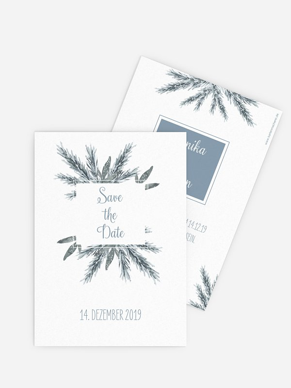Save-the-Date Karte Painted Pine
