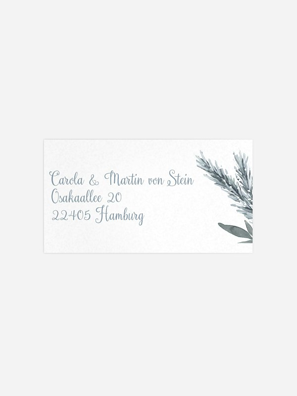 Empfängeraufkleber Hochzeit Painted Pine