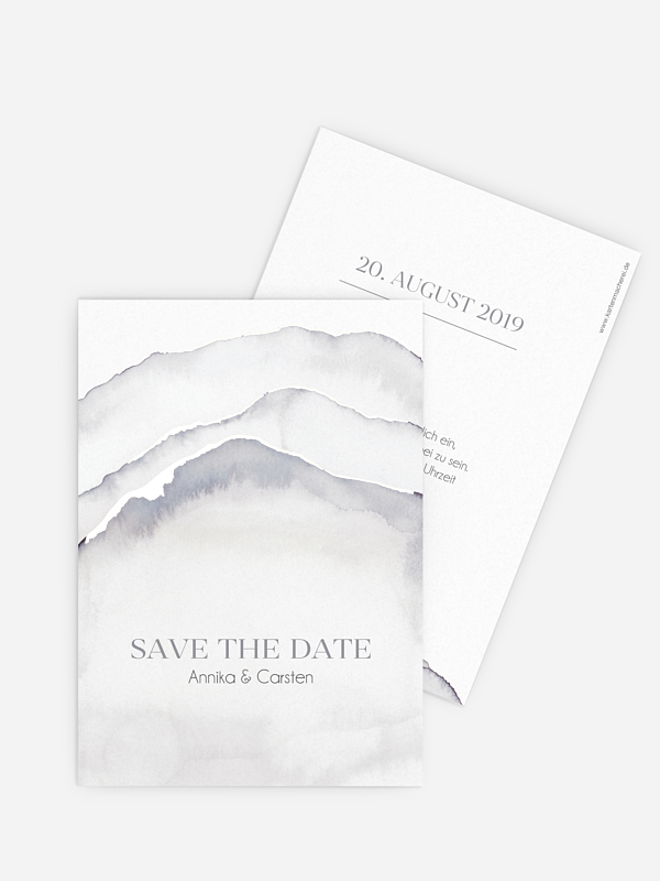 Save-the-Date Karte Ombre Premium