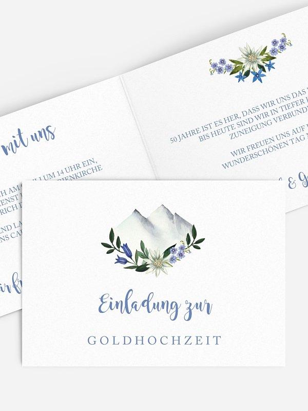 Einladung zur Goldenen Hochzeit Monte Bella